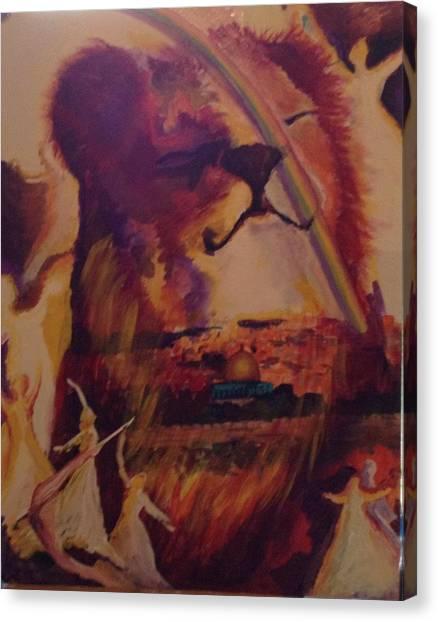 Judah Smiles Canvas Print by Tehya May