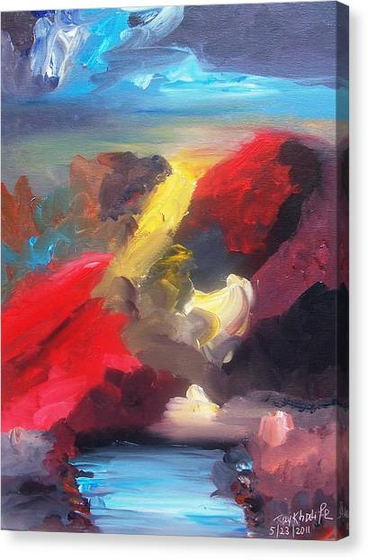 Canvas Print featuring the painting Judgment Day by Ray Khalife
