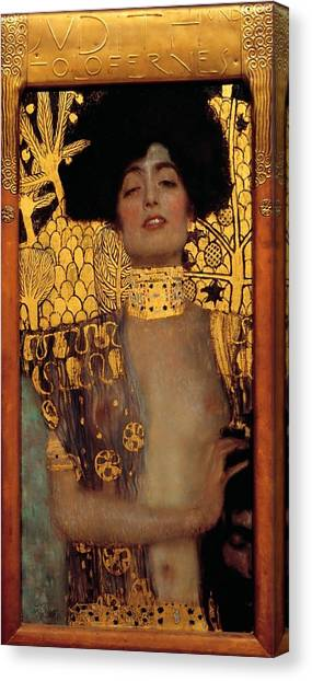 Minoan Canvas Print - Judith And The Head Of Holofernes by Gustav Klimt