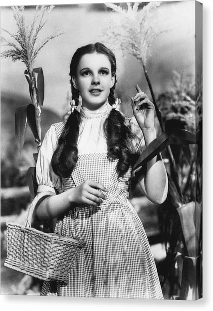 Judy Garland Canvas Print - Judy Garland As Dorothy by Underwood Archives