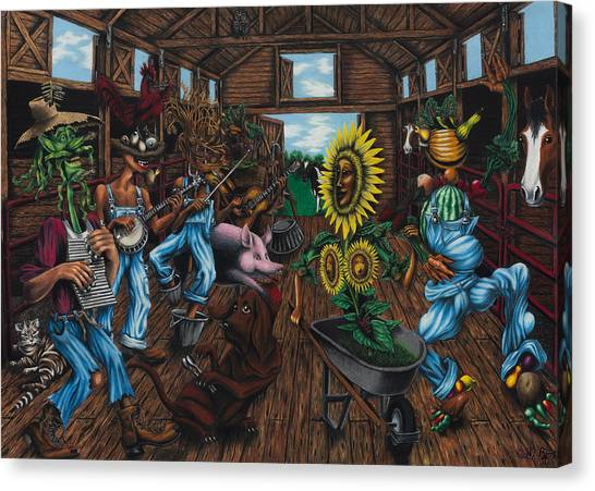 Jug Band  Canvas Print by Ned Shuchter