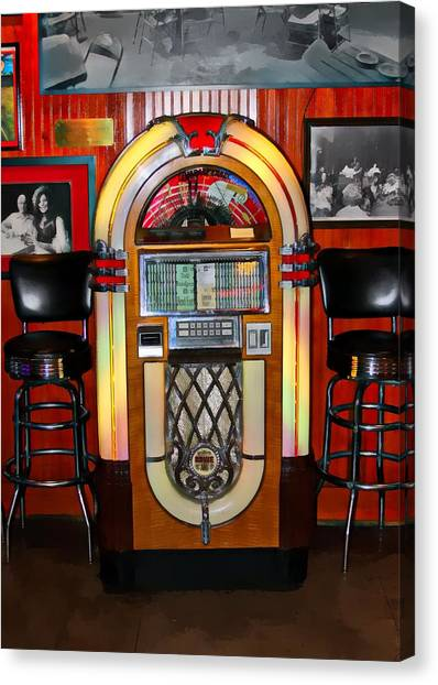 Juke Box Canvas Print by James Stough