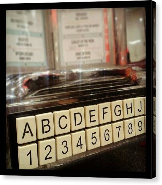 Jukebox Canvas Print - Jukebox @ Johnny Rockets #birthday by Nicole Macdonald