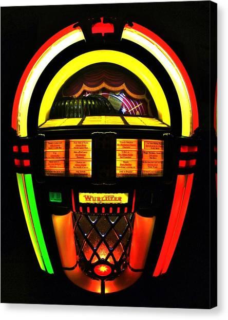Jukebox Canvas Print - Jukebox by Benjamin Yeager