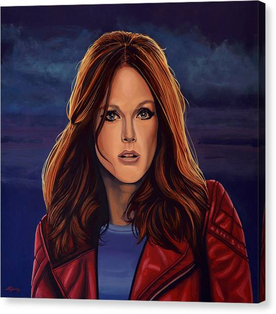 Jurassic Park Canvas Print - Julianne Moore by Paul Meijering