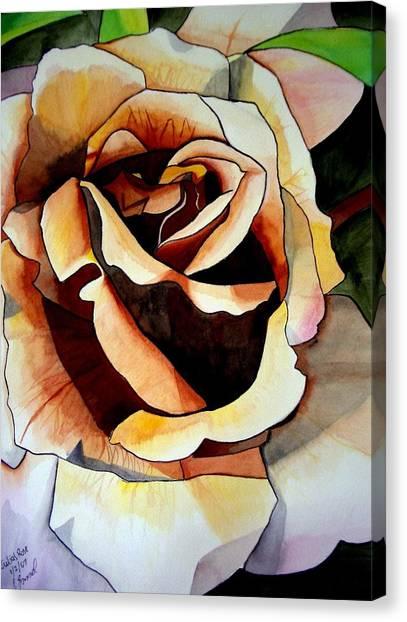 Julia's Rose Canvas Print by Sacha Grossel