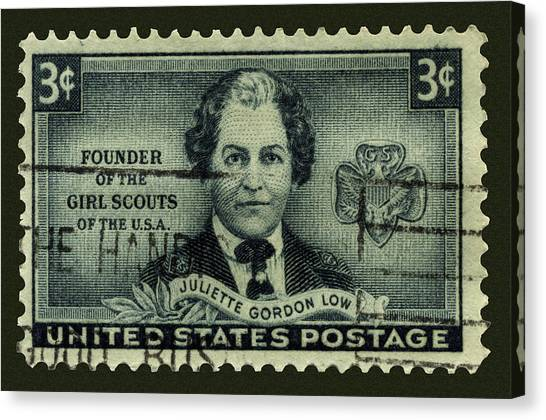 Girl Scouts Founder Juliette Gordon Low Postage Stamp Canvas Print