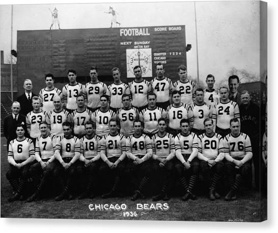 Braces Canvas Print - Chicago Bears Football by Retro Images Archives
