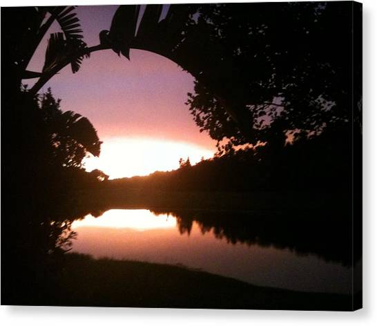 July Florida Sunset Canvas Print