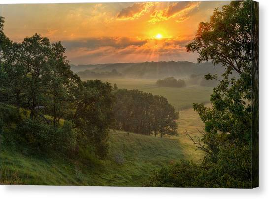 July Morning Along The Ridge Canvas Print