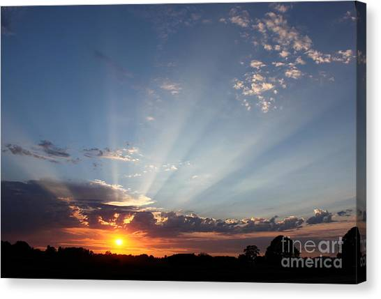 July Sky Show Canvas Print