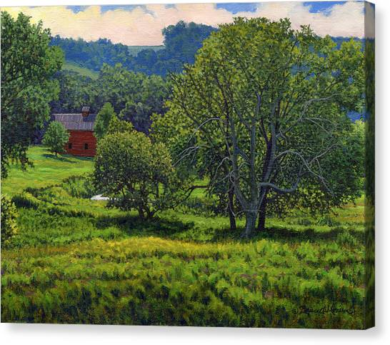 July Summer Mid Afternoon Canvas Print