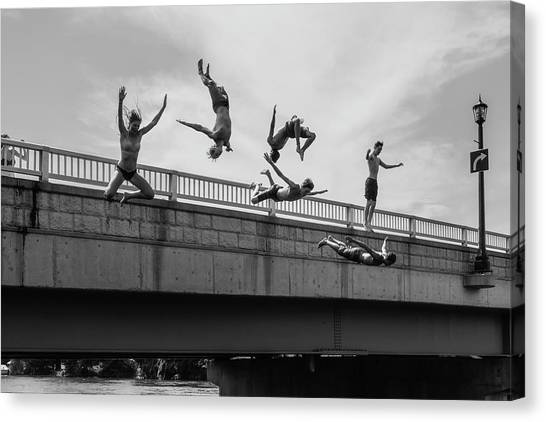 Formation Canvas Print - Jump #2 by Luigi Casanova