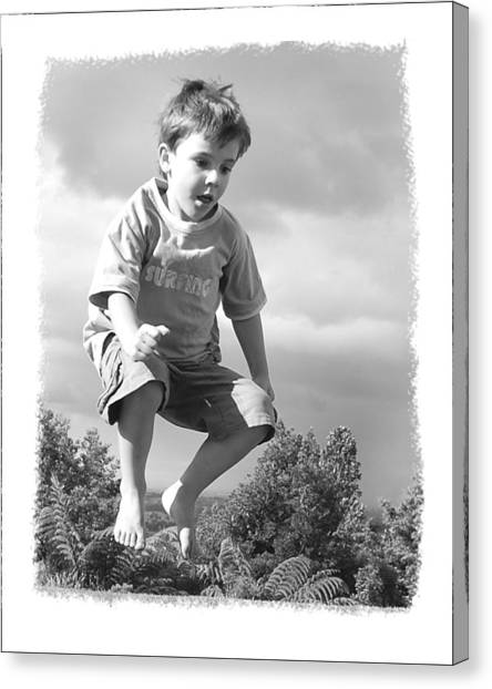 Jump Canvas Print by Wynn Davis-Shanks