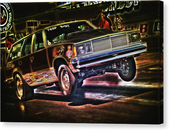 Jumping Chevelle Canvas Print