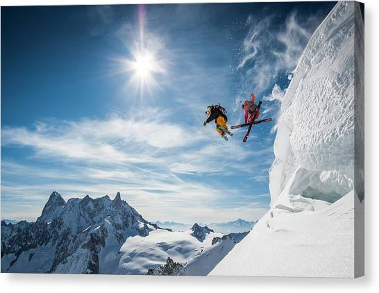 Jumping Legends Canvas Print by Tristan Shu