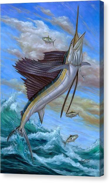 Jumping Sailfish Canvas Print
