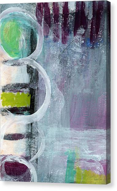 Graffiti Walls Canvas Print - Junction- Abstract Expressionist Art by Linda Woods