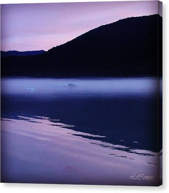 Lake Sunrises Canvas Print - Juneau My Love.  How I Miss You by Terry Lynn Lecompte
