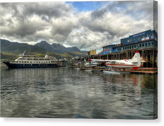 Juneau's Hangar On The Wharf Canvas Print