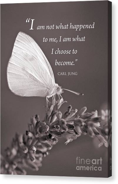 Jung Quotation And Butterfly Canvas Print