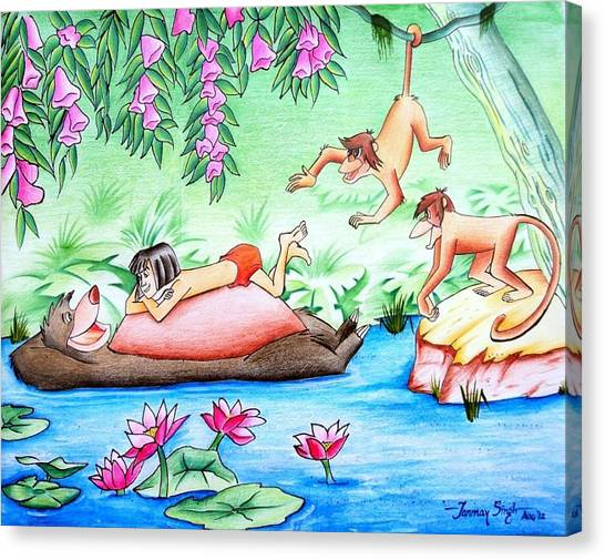 Jungle Book Canvas Print by Tanmay Singh