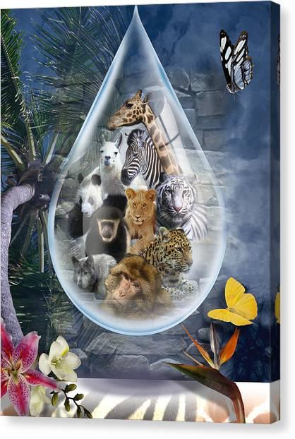 Jungle Drop Canvas Print