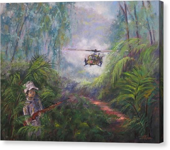Medivac Canvas Print - Jungle Encounter by Janis Ellison