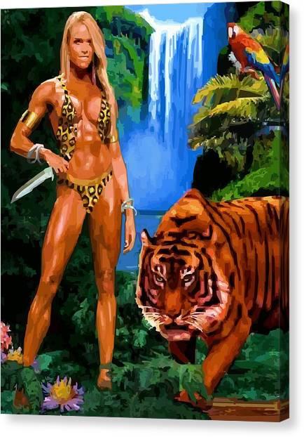Jungle Girl Canvas Print