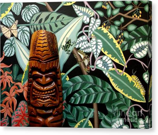 Jungle O Tiki Canvas Print by Anthony Morris