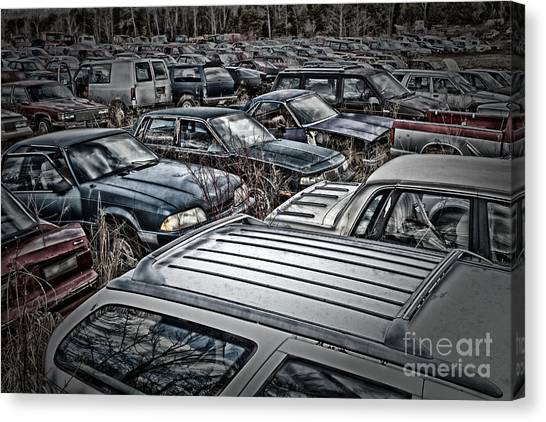 Junk Yard Canvas Print
