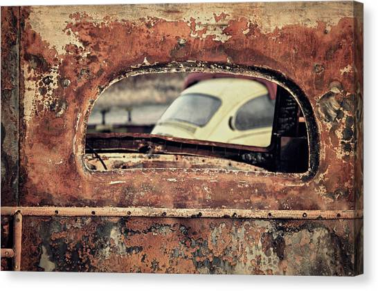 Junkyard Window Canvas Print