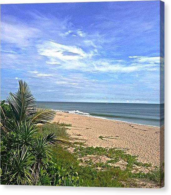Jupiter Canvas Print - #jupiter #florida #beach #ocean #nature by Eddie Vanderwerff