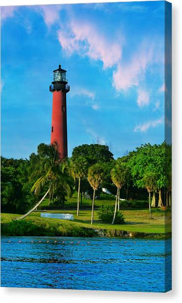 Jupiter Canvas Print - Jupiter Florida Lighthouse by Laura Fasulo