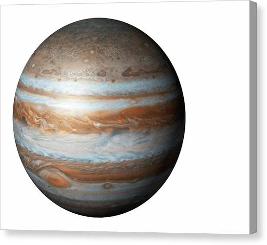Cutout Canvas Print - Jupiter From Space by Mikkel Juul Jensen