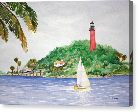 Burt Reynolds Canvas Print - Jupiter Inlet Lighthouse by Jeff Lucas