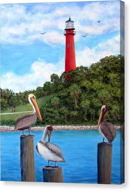 Jupiter Inlet Pelicans Canvas Print