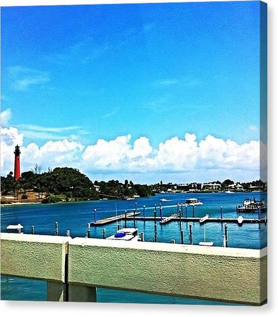Jupiter Canvas Print - #jupiter #lighthouse #florida #historic by Eddie Vanderwerff
