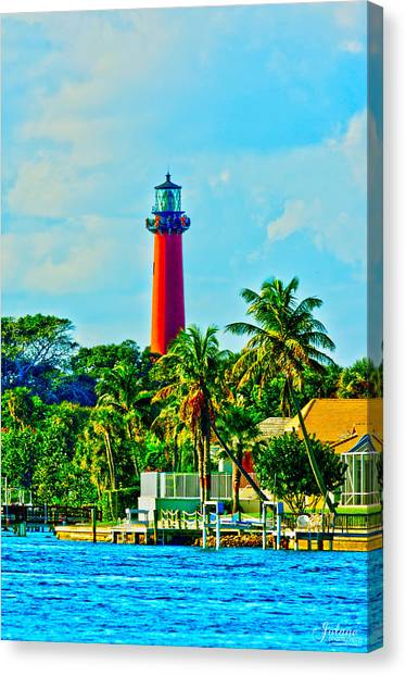 Jupiter Lighthouse Winter Canvas Print
