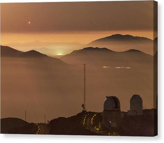 Atacama Desert Canvas Print - Jupiter Over La Silla Observatory by Babak Tafreshi