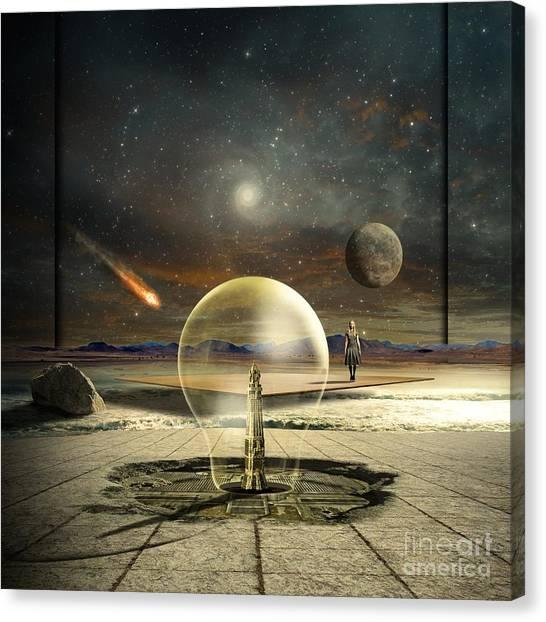 Shooting Stars Canvas Print - Jupiter Session by Franziskus Pfleghart