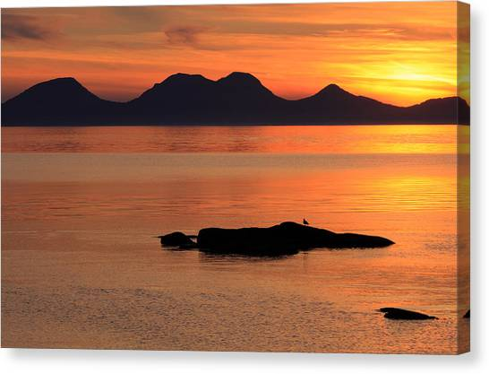 Jura Sunset Canvas Print