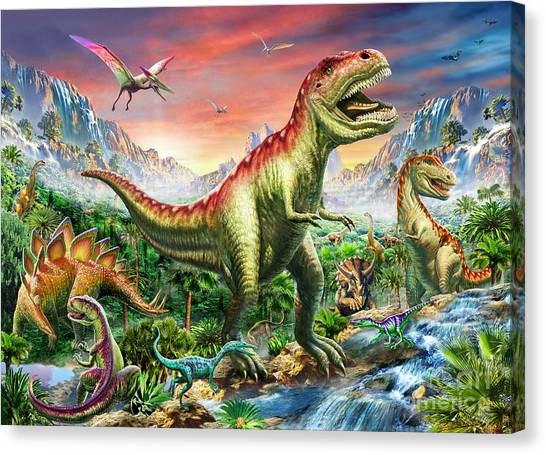 Jurassic Park Canvas Print - Jurassic Forest by Adrian Chesterman