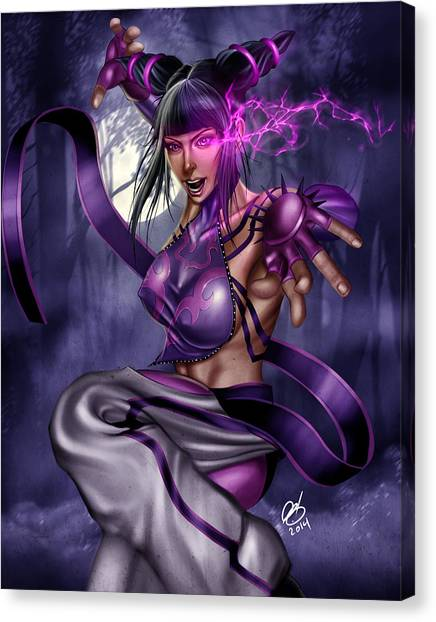 Street Fighter Canvas Print - Juri by Pete Tapang