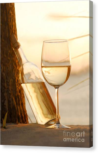 Vineyard In Napa Canvas Print - Just A Beautiful Day by Jon Neidert