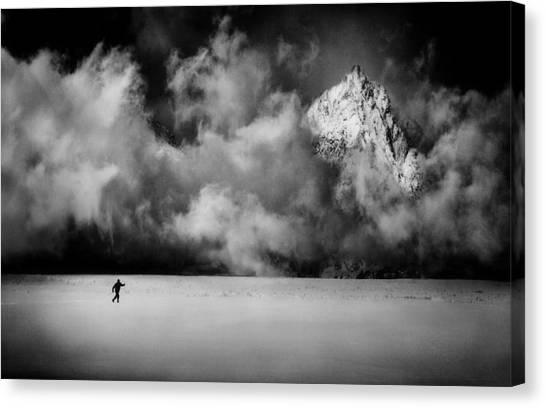 Skiing Canvas Print - Just A Few Miles Ahead... by Peter Svoboda, Mqep