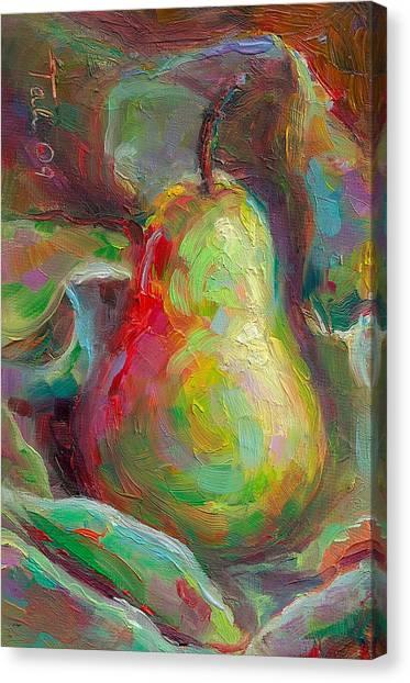 Just A Pear - Impressionist Still Life Canvas Print