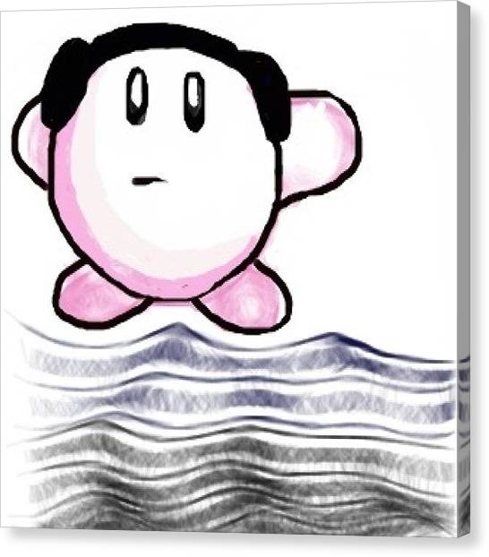 Kirby Canvas Print - Just A Quick Doodle While Trying Out by Michelle Cronin