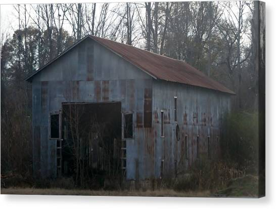 Just An Old Barn Canvas Print