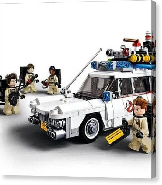 Ghostbusters Canvas Print - Just Announced! #lego #ghostbusters by Chuck Caldwell